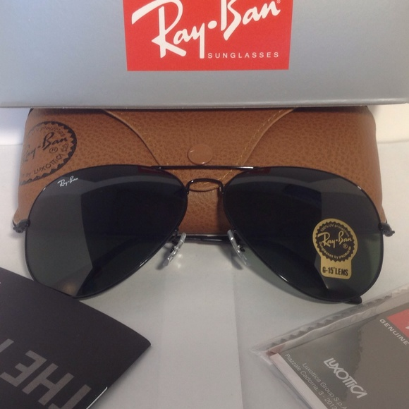 ad4da668e3 RAY BAN Aviator RB3026 L2821 Sunglasses Black 62mm.  M 5adbc42b50687c48772d6d11